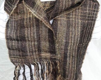 Glitz Gold , hand woven with a variety of fiber as well as metallic thread, warm, different , funky,