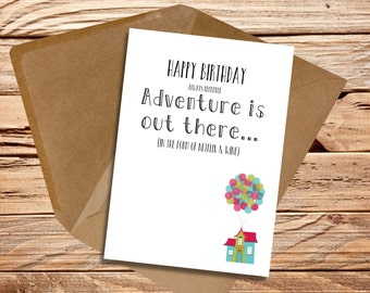 Funny birthday card Boyfriend Friend Girlfriend Wife Husband Remember adventure is out there in the form of Netflix and wine