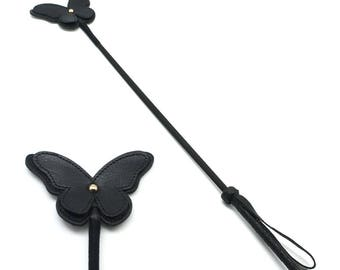 "22.8"" / 58cm Bondage Riding Crop, Spanking gear, Leather crop,  BDSM, bdsm crop (mature)"