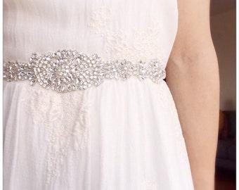 On sale !!! Rhinestone Bridal Sash,Wedding Dress Sash Belt, Rhinestone Sash, Rhinestone Bridal Bridesmaid Sash Belt, Wedding dress sash belt