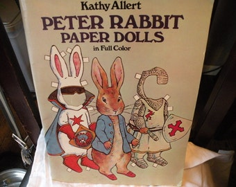Wonderful Vintage Collectible Kathy Allert Peter Rabbit Paper Dolls Complete Paper Cut Outs 16 Plates Peter rabbit Collector Paper Dolls & Peter rabbit cut out | Etsy