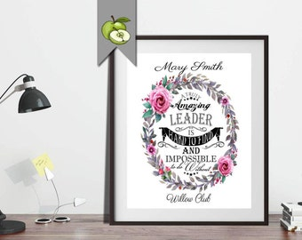 Boss week art, retirement gift, Leader, boss, Manager, amazing boss gift, mentor, is hard to find, impossible to do without, printable