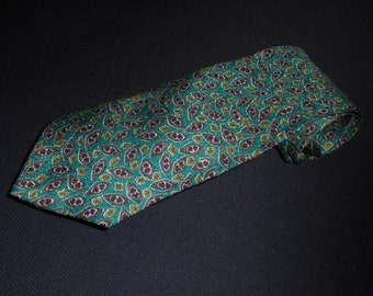 Christian Dior Tie Monsieur Gray Green White Star Prints 100% Silk Mens Necktie Printed Vintage Neckwear Designer Name Brand Free Shipping GGswBI5