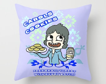 The Walking Dead, Carol Peletier, cushion cover, carol's cookies, Walking Dead gift, Walking dead illustration, zombies