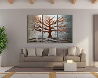 Modern Wall Sculpture, Tree Metal Art, Contemporary Wall Art, Tree Modern Art, Tree Wall Sculpture, Livingroom Art, Metal Wall Art, Copper