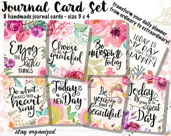 Motivational Quotes Journal Cards Project Life Cards Journaling Cards Scrapbook Cards Journaling Assorted Cards Scrapbooking 3x4 Cards JC011