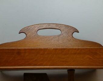 Antique Quarter Sawn Oak Cutlery Tray - Wood Utensil Tray - Silverware Cady - Hand Made Oak Tray - Kitchen Antique