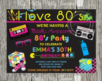 80s Party I Love The 80s Totally 80s