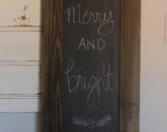 FREE SHIPPING, Reclaimed Wood Chalkboard, Farmhouse Chalkboard,Farmhouse Decor,Farmhouse Christmas,Wood Framed Chalkboard,Wedding Chalkboard