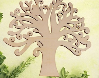 large wooden tree hobby - tree of life - wedding garden fairy - DIY crafts - family tree - tree light wood