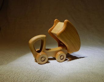 Wood truck toy Wooden vehicles Dumper Push toy Waldorf toy Eco friendly toy Organic handmade toy