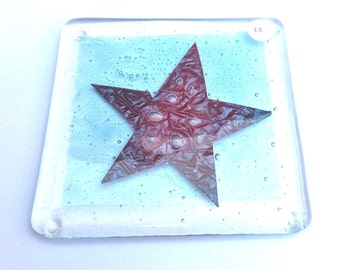 Fused Glass Star Coaster