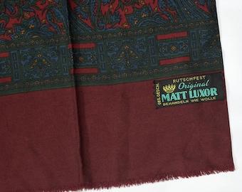 Men scarf muffler / Paisley / Paisley scarf / Opera Foulard / Scarf muffler / Oblong scarf / Vintage / Gift for men / Brown men scarf