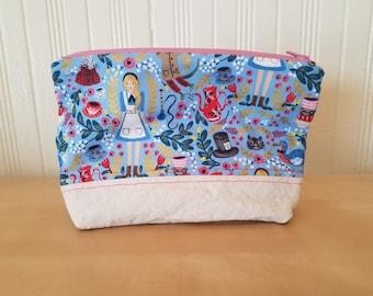 Alice in Wonderland Zipper Bag
