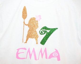 Moana Birthday shirt, Moana shirt