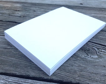 50 Blank White or Ivory Cards 5x7 100lb DIY Invitations Laser and Inkjet Printing Cardstock
