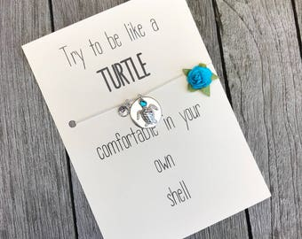 Turtle Necklace Charm Turtle Jewelry Bridesmaid Gift Turtle Silver Beach Jewelry  Sea Turtle Necklace Wedding Beach Hawaii Gift, A58