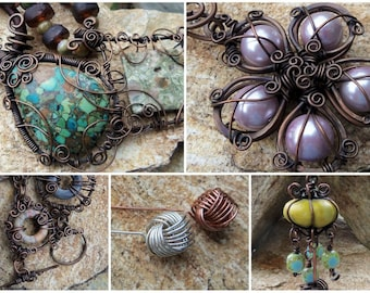 The Wire Jewelry Tutorial Collection - 5 Tutorials - INSTANT Download