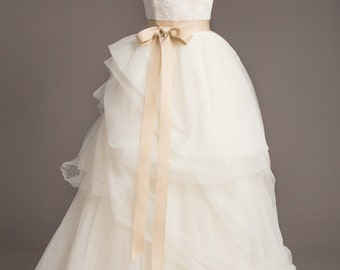 "Champagne Wedding Sash - 1.5"" - Romantic Luxe Grosgrain Ribbon Sash - Wedding Belt, Bridal Sash, Bridal Belt - Wedding Dress Sash"