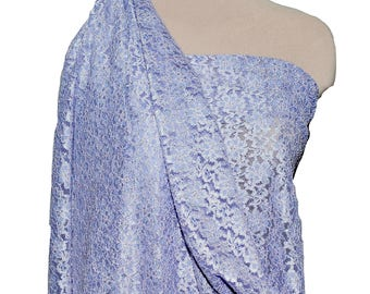 """Stretch  lace 52/54"""" wide 1 yard..Lilac . formal wear, bridal, mother of bride, flower girl"""