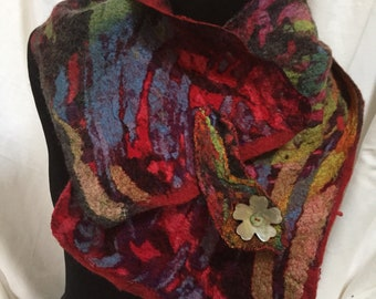 Nuno felted short scarf/collar