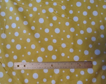 Yellow Multiple Size Polka Dot Flannel Fabric  by the Yard