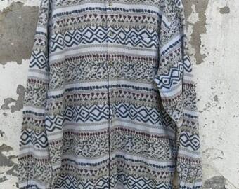 Vintage Navajo Aztec Shirt 80s 90s size m