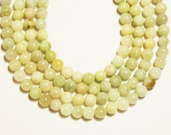 6mm Jadeite Smooth Round Shape Bead
