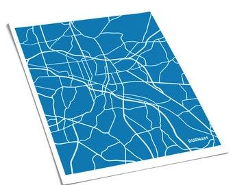 Durham Map Art City Print / 8x10 / Duke University Poster / Choose your Color