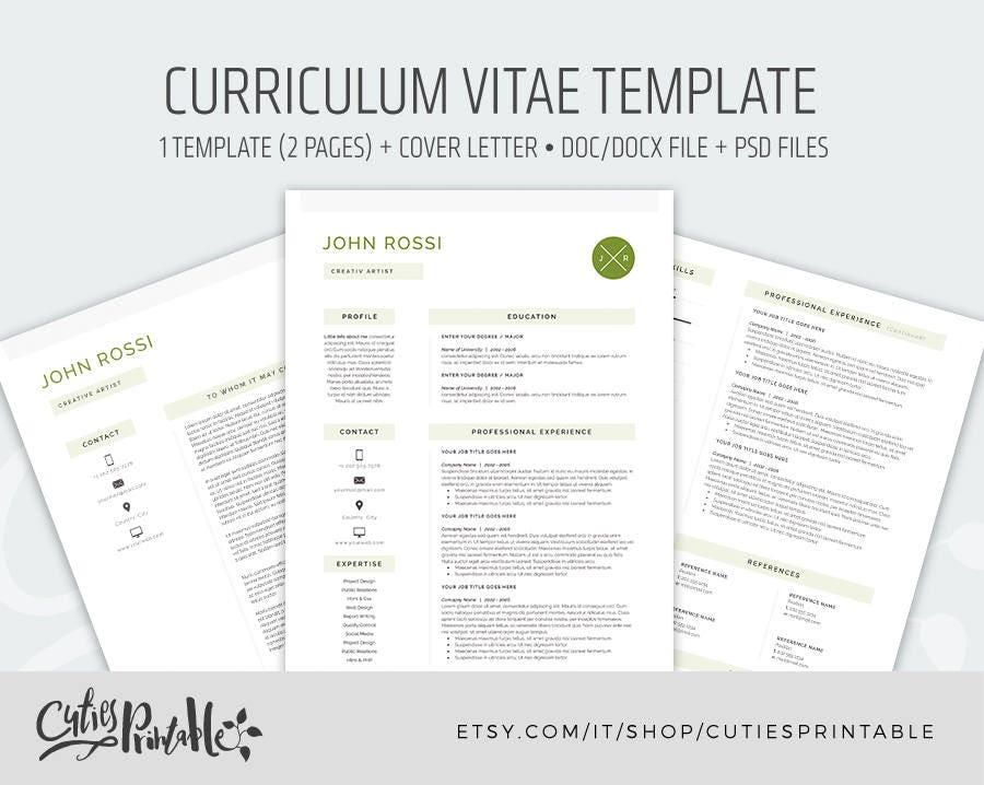 clear resume template cv template 2 pages cover letter