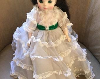 "Madame Alexander Vintage 14"" Scarlet O'Hara Gone with the Wind Doll #1590-'73-84"