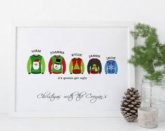 Funny Christmas shirts -  Family Christmas Gifts, funny christmas jumper, womens christmas sweater, ugly christmas sweater print