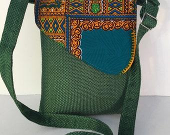 Ankara / Dashiki / African Print Crossbody Bags - Medium Size