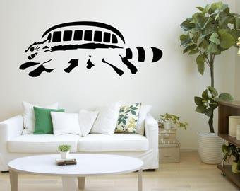 Elegant Totoro Wall Decal | Etsy