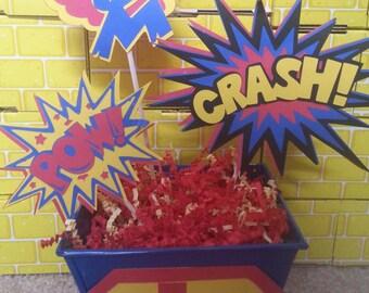 Super Hero Birthday Centerpieces