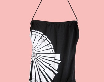 Vintage Black and White Starburst Swimsuit