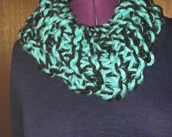 Double knit chunky cowl scarf