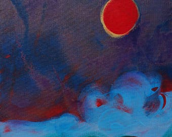 Oregon Coast Eclipse original abstract landscape painting
