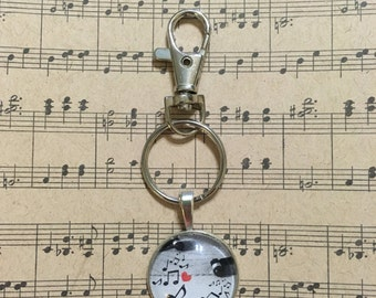 Music themed key chain