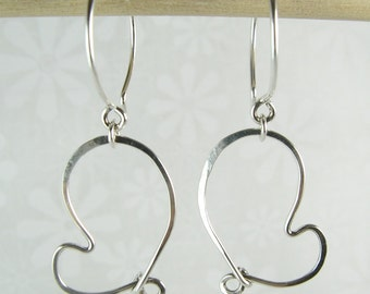 CHERISH HEART EARRINGS, sterling silver heart earrings