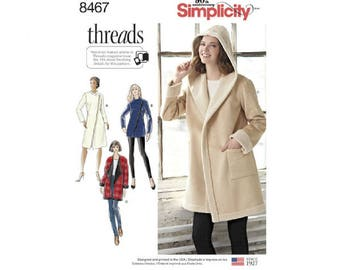 Simplicity 8467 (D0761) - Coat or Jacket with Neckline Variations