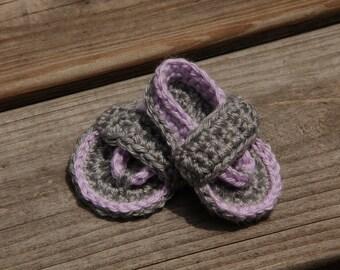 Crochet Baby Sandals, Girls Sandals, Boys Sandals, Crochet Flip Flops, Lavender Baby Sandals, Crochet Sandals, Mrs Vs Crochet