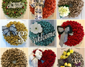 Burlap Wreath Tutorial Video~ Build Your Own Wreath ** Learn How to Make This Style Wreath for All Seasons, Occasions & Home Decor!