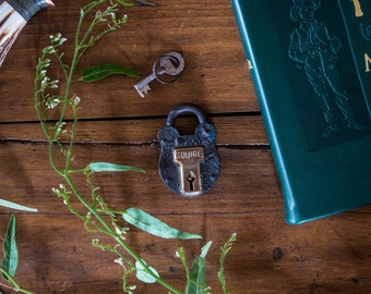 1920's English Squire & Sons Padlock with Key