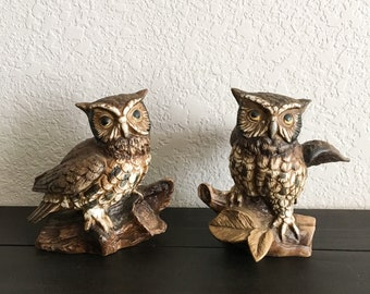 Homco Owl, Vintage Owl, Owl Decor, Owl Figurines, Two Owls, Owl Decor Kitchen, Homco Figurines, Vintage Owl Figurine, Vintage Owl Decor
