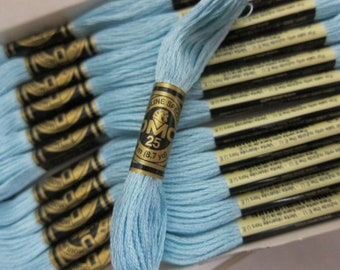 3761, Light Sky Blue, DMC Cotton Embroidery Floss - 8m Skeins - Available in Full (12-skein) Boxes - Get Up To 50% OFF, see Description