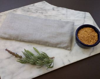 Organic Lavender Flax Eye PIllow, pinstripe, Father's Day present, Bachelor Party present, hangover, headache, relaxation, meditation, Yoga