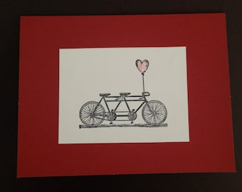 Bicycle Built for Two Love card