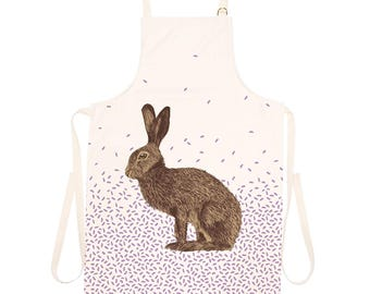 Brown Hare Apron / Wild Rabbit / Easter Bunny Pinny