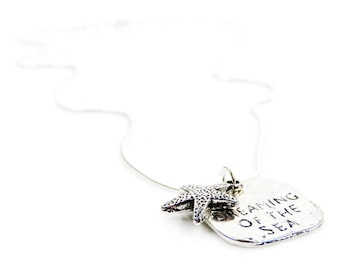 Silver Dreaming of the Sea Necklace with Starfish Charm